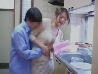 Japanese Fucking His Brothers Wife In Kitchen clip